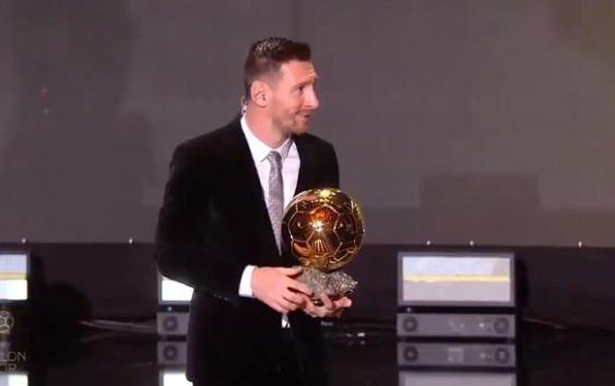 ¡Messi ganó su sexto Balón de Oro!